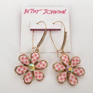 Betsey Johnson Summer Picnic Daisy Earrings